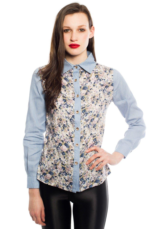 Heidi Floral Denim Shirt