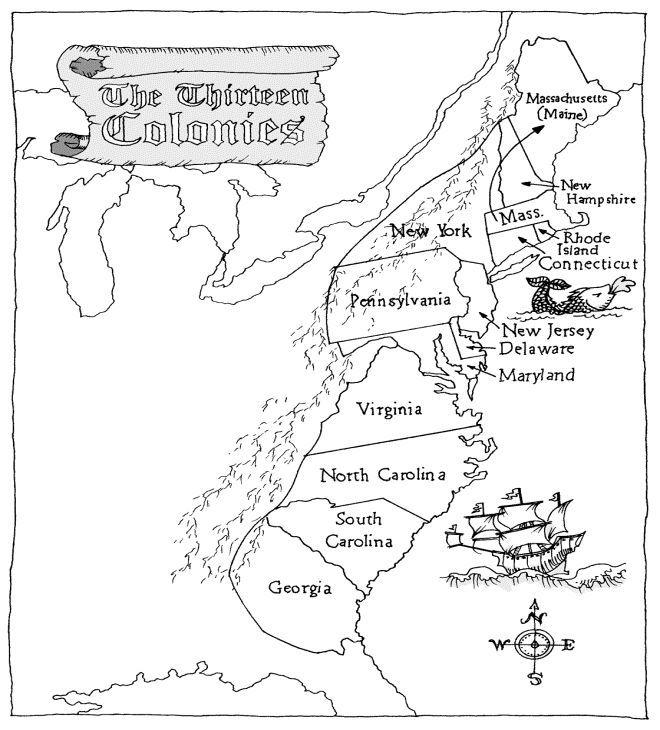 Printable 13 Colonies Map 3rd Grade Social Studies 13 Colonies