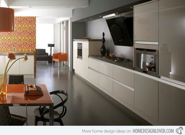 15 Earth Toned High Gloss Kitchen Designs Home Design Lover High Gloss Kitchen High Gloss Kitchen Doors Kitchen Design