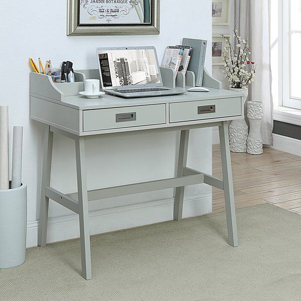 Create an inviting work or study space with this small office desk