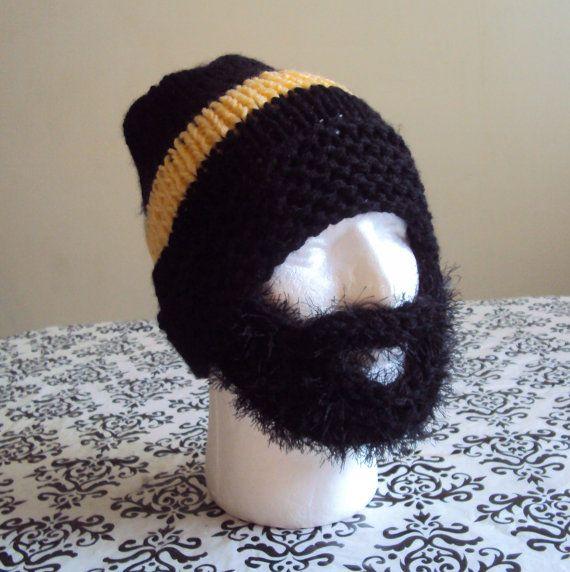 BEARD HAT BEANIE Mens Knit Beanie Face Mask Winter Hat Snowboard Hat ...