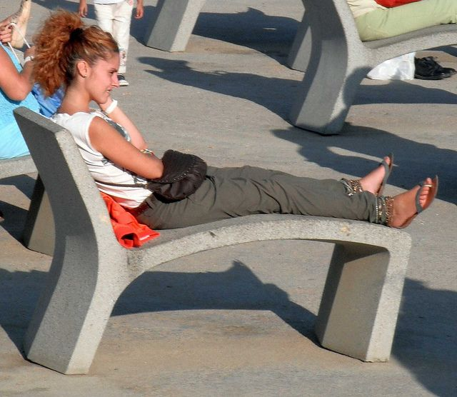 Concrete sunlounger   Fired Earth Inc