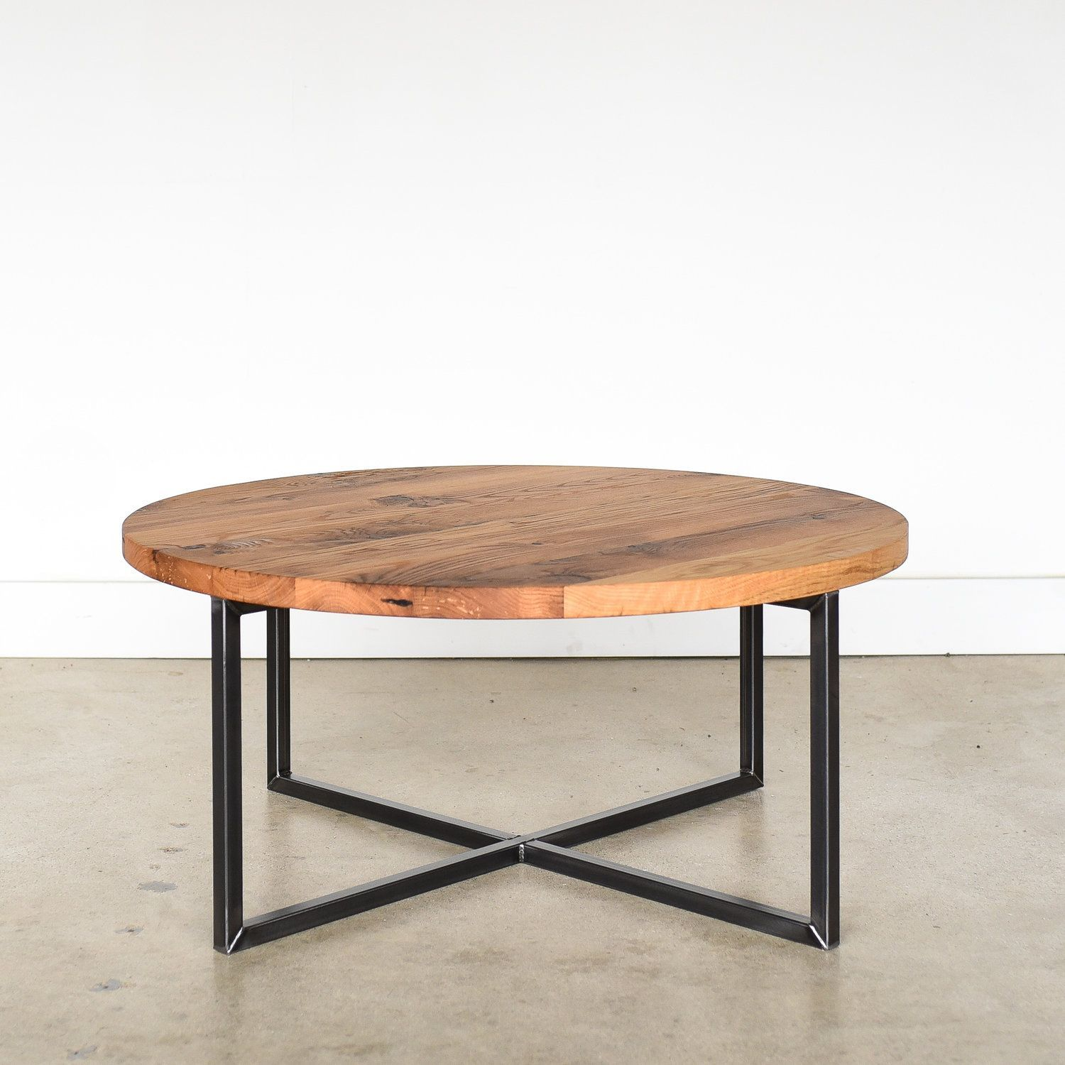 Round Modern Reclaimed Coffee Table What We Make Round Wood Coffee Table Wood Coffee Table Design Reclaimed Wood Coffee Table [ 1500 x 1500 Pixel ]