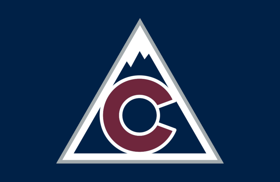 Colorado Avalanche Jersey Logo (2018/19-Pres) - Mountain with state of Colorado flag logo in the middle, worn on Avalanche third jersey