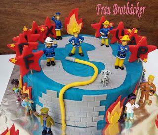 Frau Brotbäcker Feuerwehrmann Sam Torte день рождения Pinterest