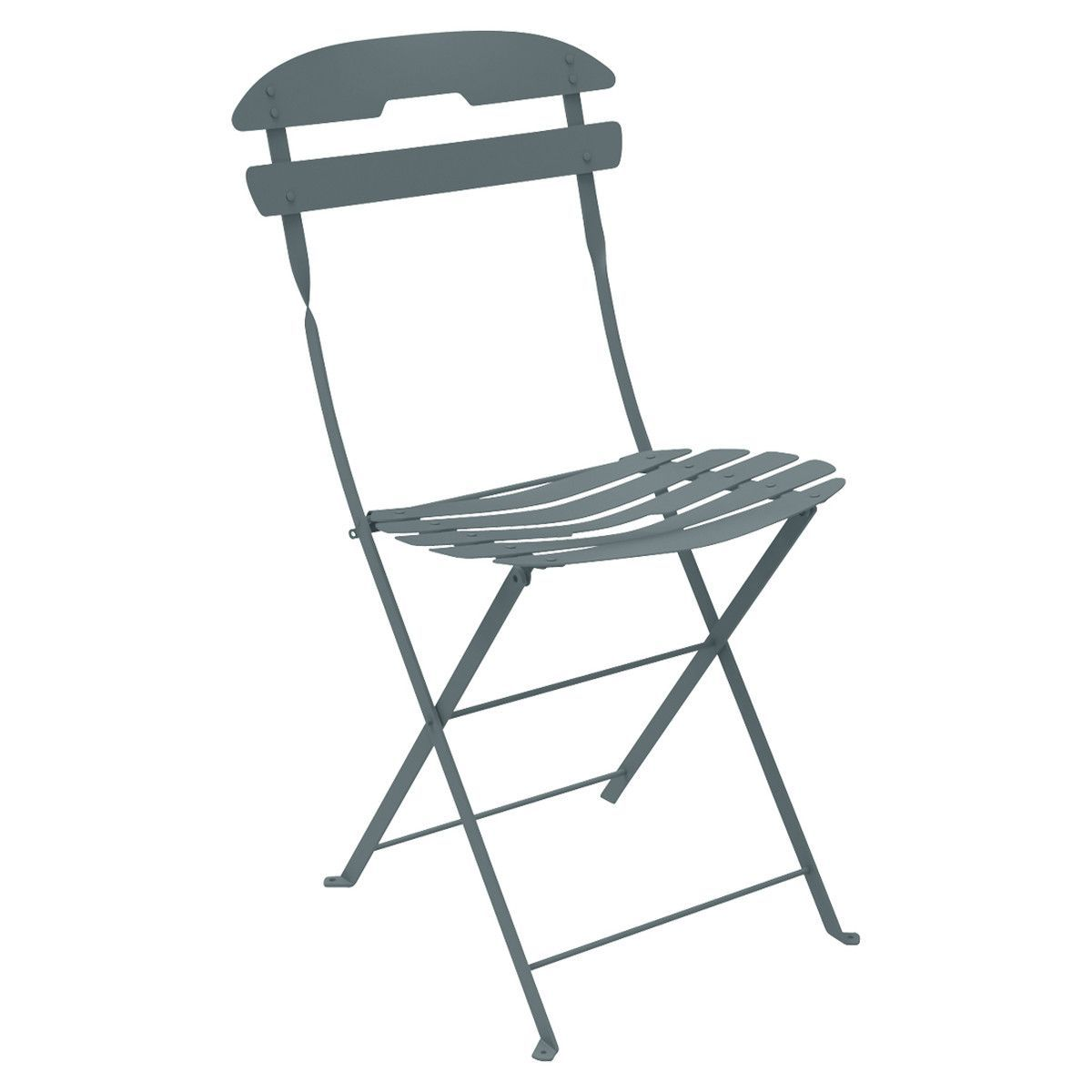 Fermob Chaise La Mome Gris Orage In 2020 Folding Chair Metal Chairs Outdoor Folding Chairs