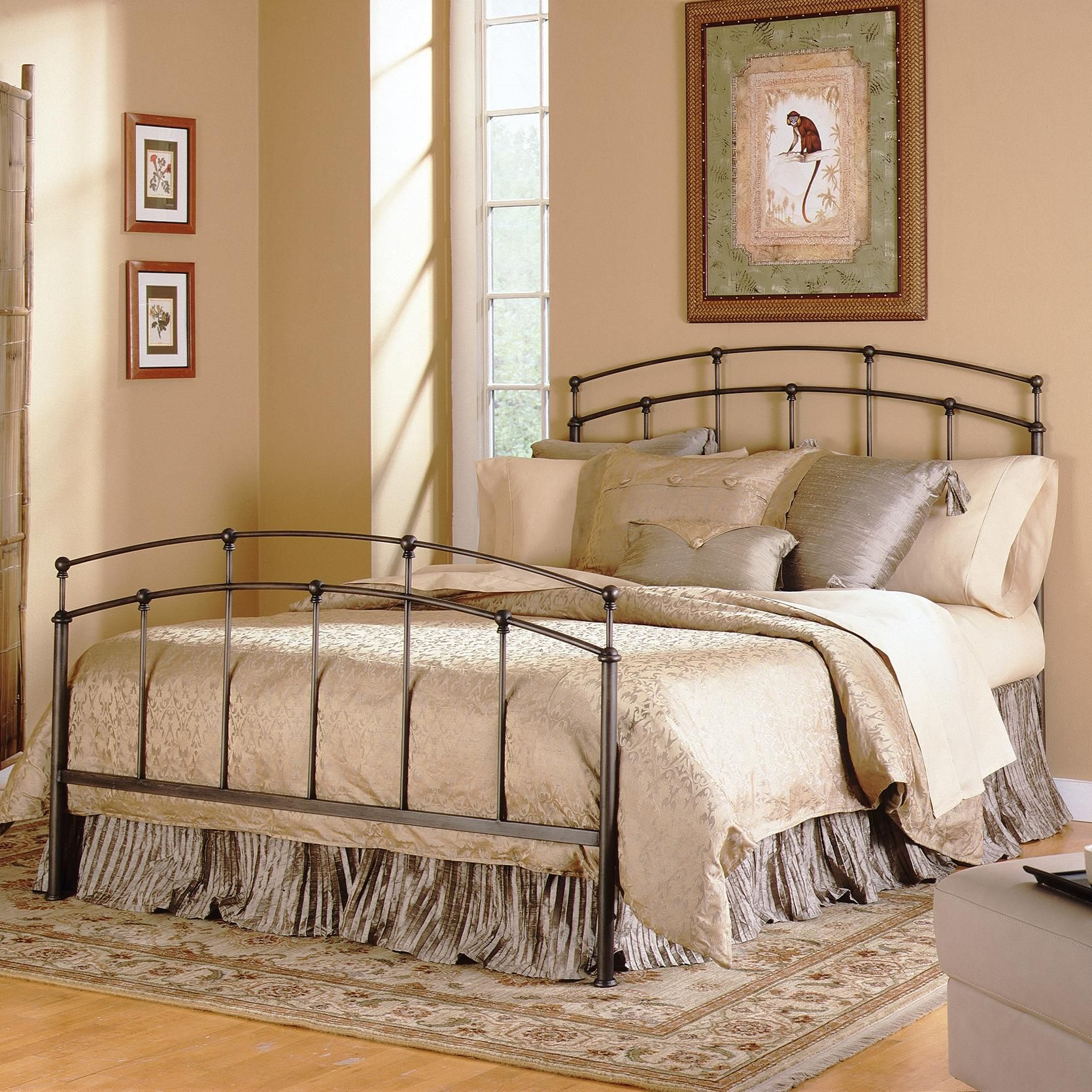 Metal Beds Queen Fenton Metal Bed by Fashion Bed Group