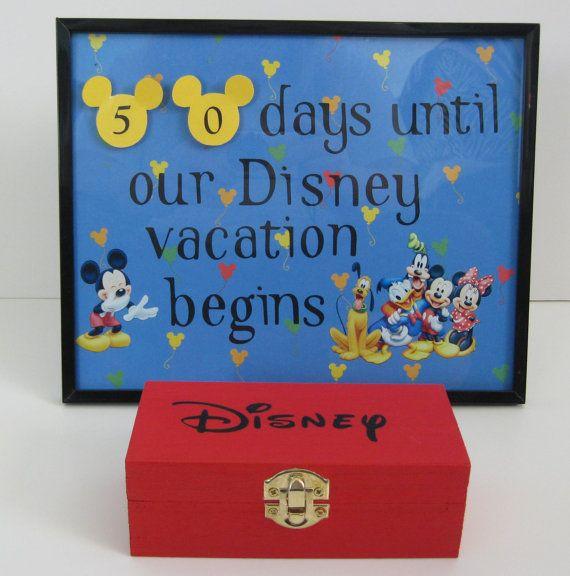 Disney World Number Countdown Frame Minnie Mickey Calendar Kids