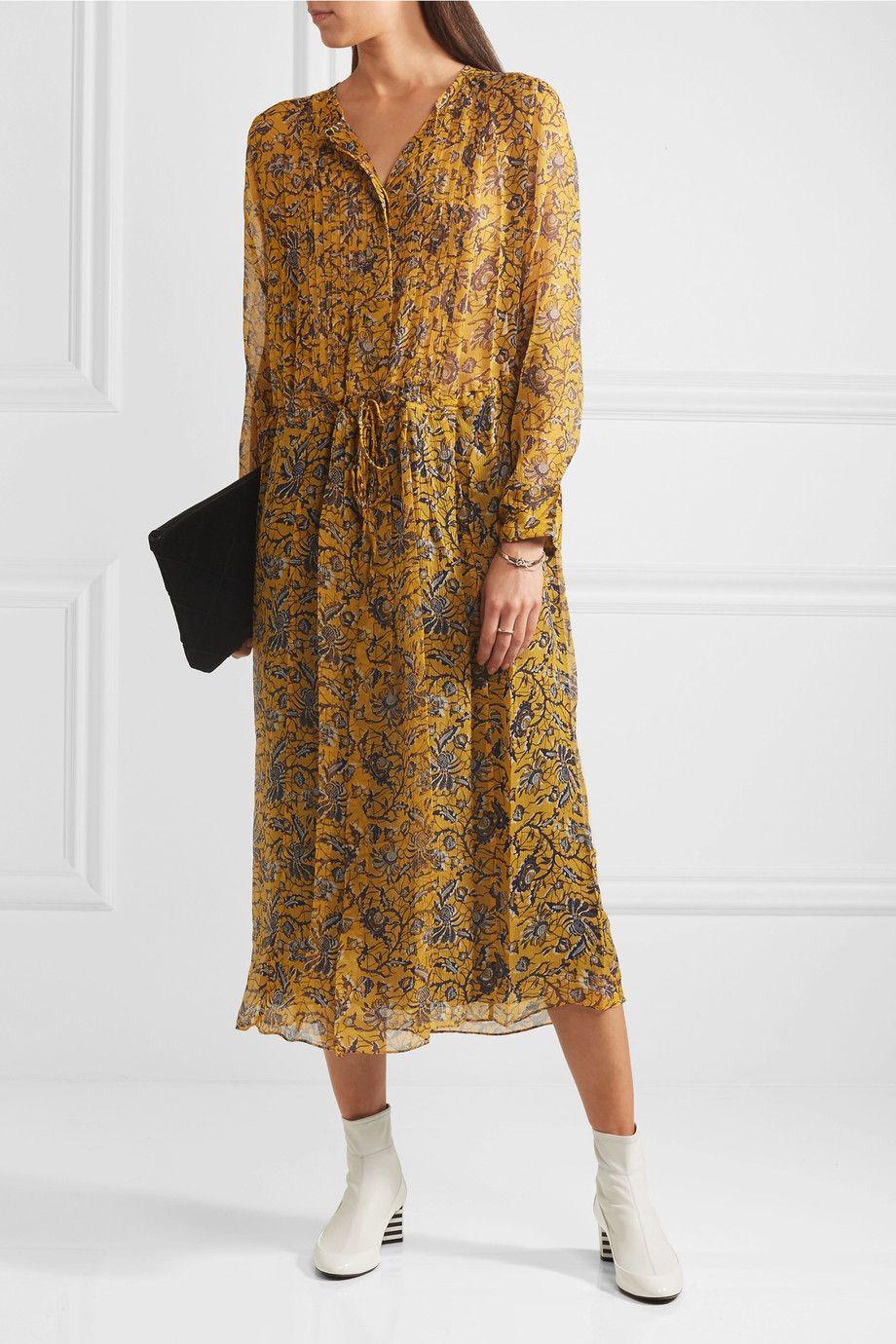 Étoile Isabel Marant | Baphir printed silk midi dress | NET-A-PORTER.COM