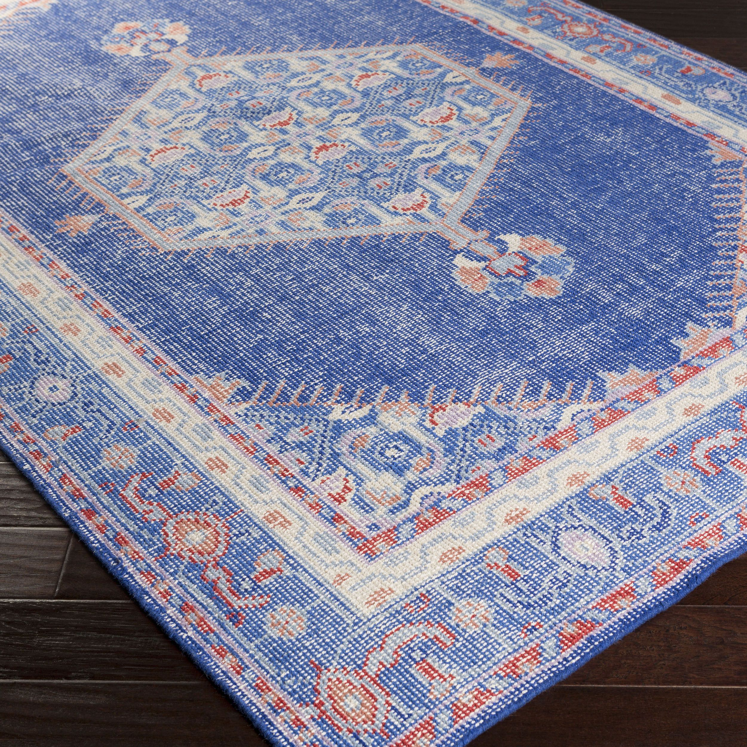 Hand Knotted Traditional Wool Rug 8 X 11 Blue 8 X 11 Blue