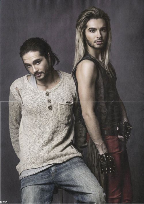 Tom and Bill Kaulitz. Identical twin brothers from the German music group Tokio Hotel.