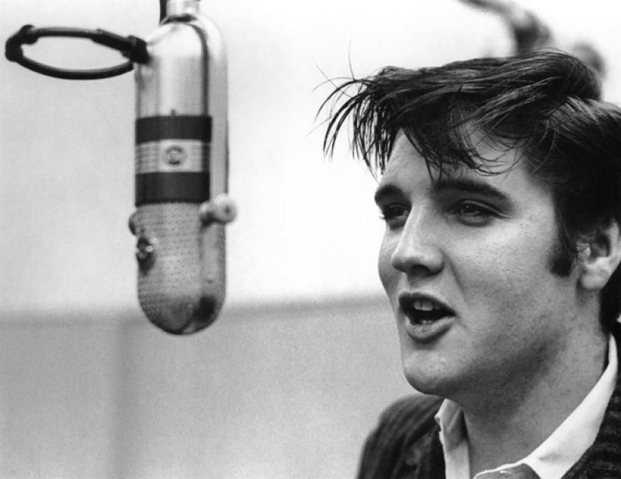 """Elvis Presley During the Filming of """"Loving You"""", 1956"""