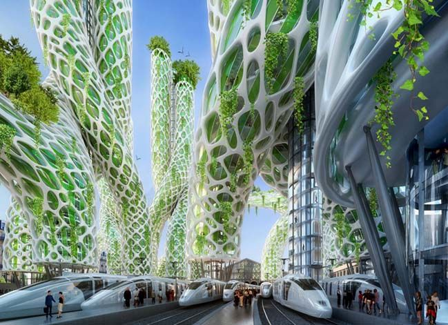 8 Green And Smart Towers For The Future Of Paris In 2050 Green Architecture Futuristic Architecture Eco Architecture