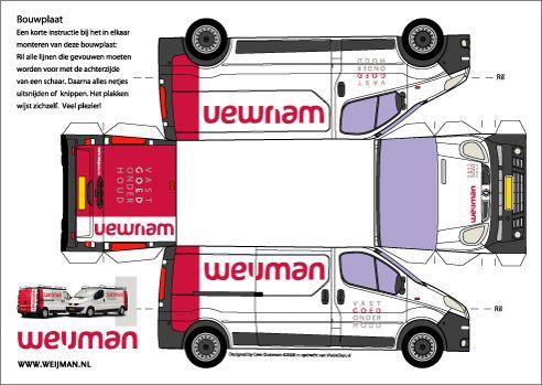 Bastelbogen Papiermodelle Paper Trucks Pinterest
