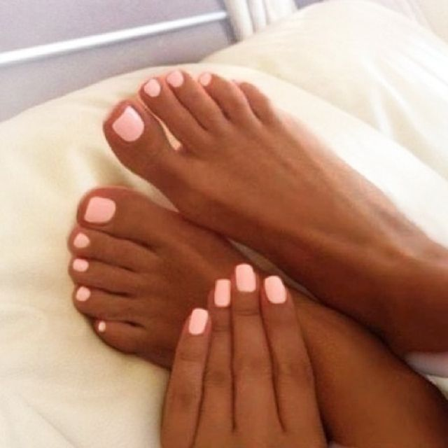 Love This Pink Color And The Shape Of Her Toe Nails Are Like Mine