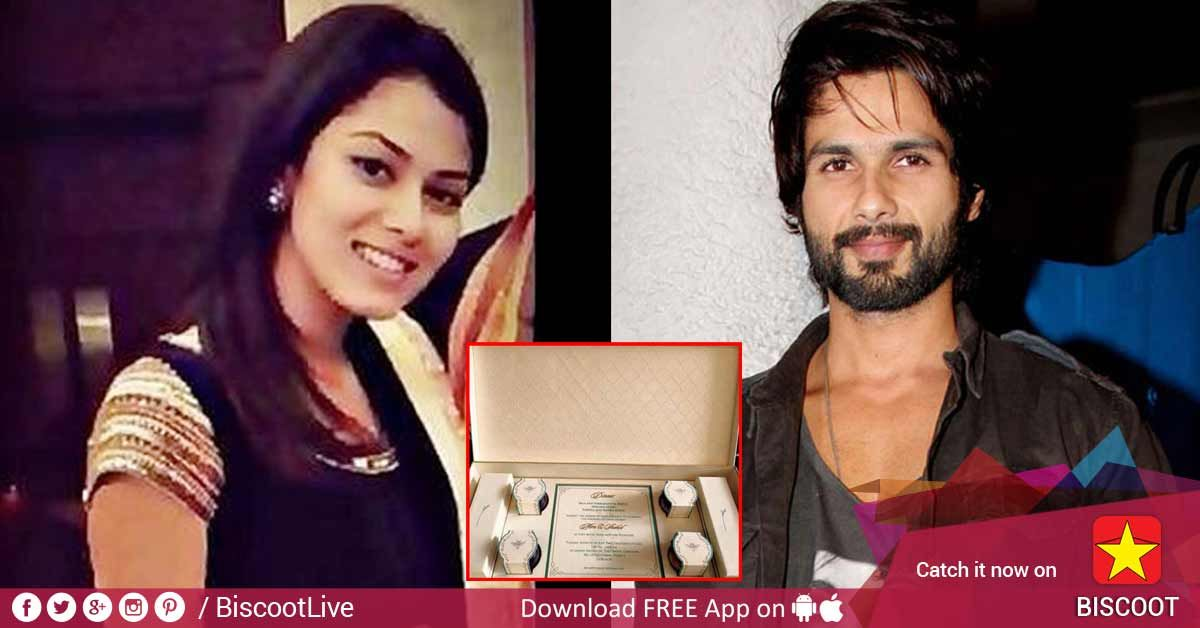 Check out Shahid Kapoor and Mira's wedding invite! www.biscoot.com