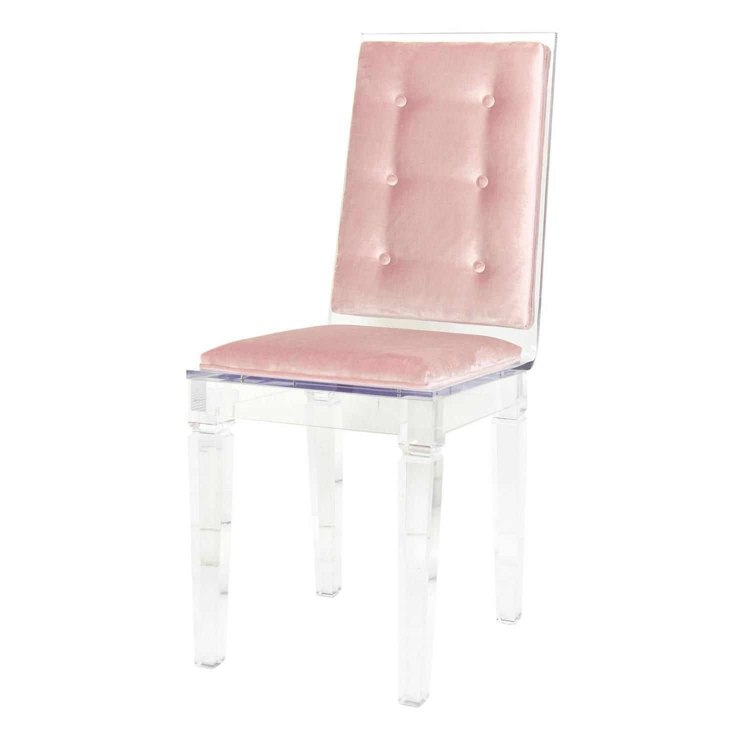 Best Modern Style Lucite Dining And Accent Chair With Blush 400 x 300