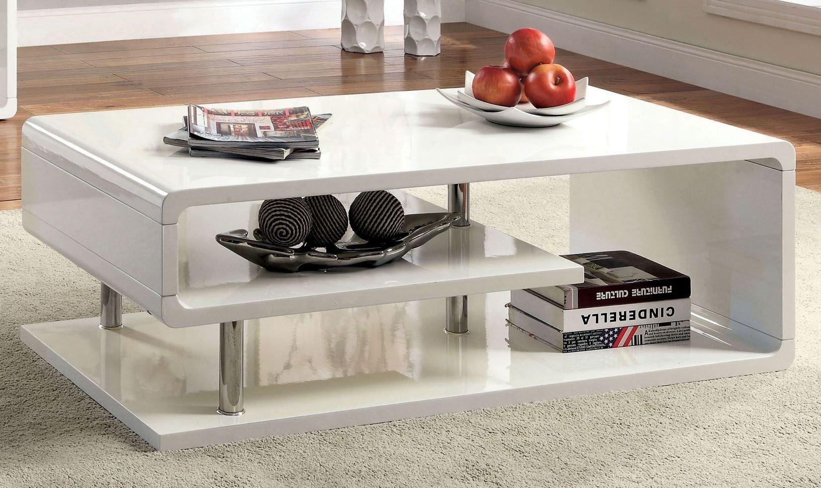 Ninove I White High Gloss Coffee Table In 2020 Coffee Table White Coffee Table Furniture Of America [ 982 x 1651 Pixel ]
