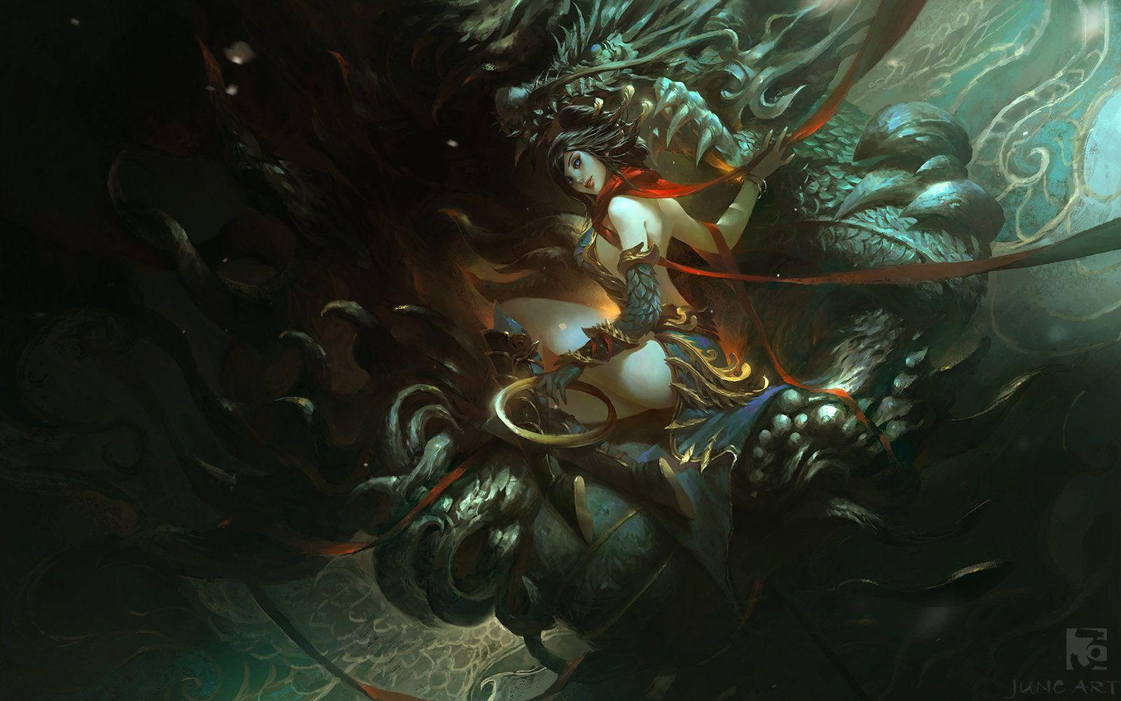 Dragon vein, Wenjun Lin on ArtStation at https://www.artstation.com/artwork/dragon-vein-9739ec9e-4af0-41c9-862c-7fe15c32bf97