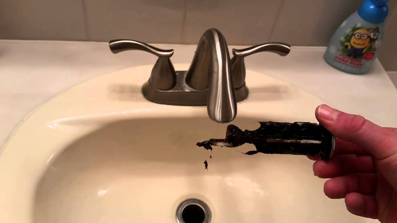 Bathroom Sink Quick Fix How To Remove And Clean The Stopper Unclog Sink Pop Up Drain In 2020 Unclog Sink