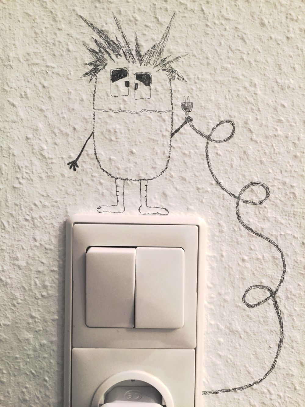Hacoly Wandschalter Wandsticker Steckdose Wandtattoo Komisch Angst Cat Lichtschalter Wandaufkleber Kunst Wand Aufkleber Dekoration Wandtattoo Wandsticker