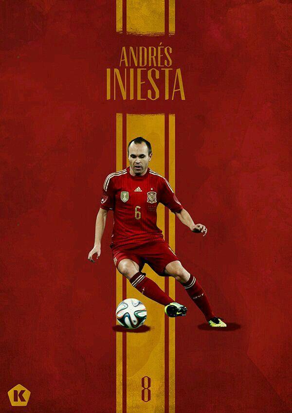 Andres Iniesta Of Spain Wallpaper World Football Spain National Football Team Soccer World
