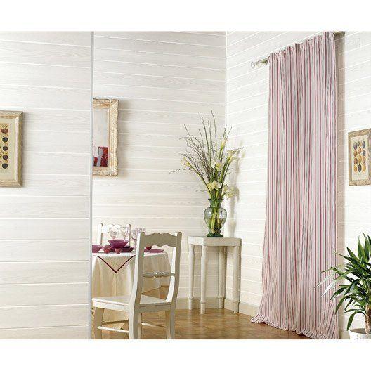 Lambris PVC bois fin blanc GROSFILLEX Country L260 x l375 cm x Ep - plafond pvc pour salle de bain