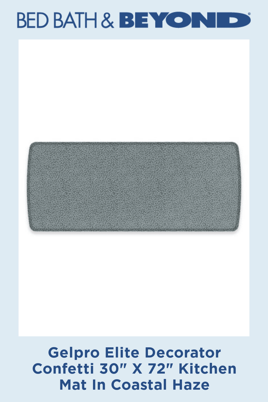 Gelpro Elite Decorator Confetti 30 X 72 Kitchen Mat In Coastal