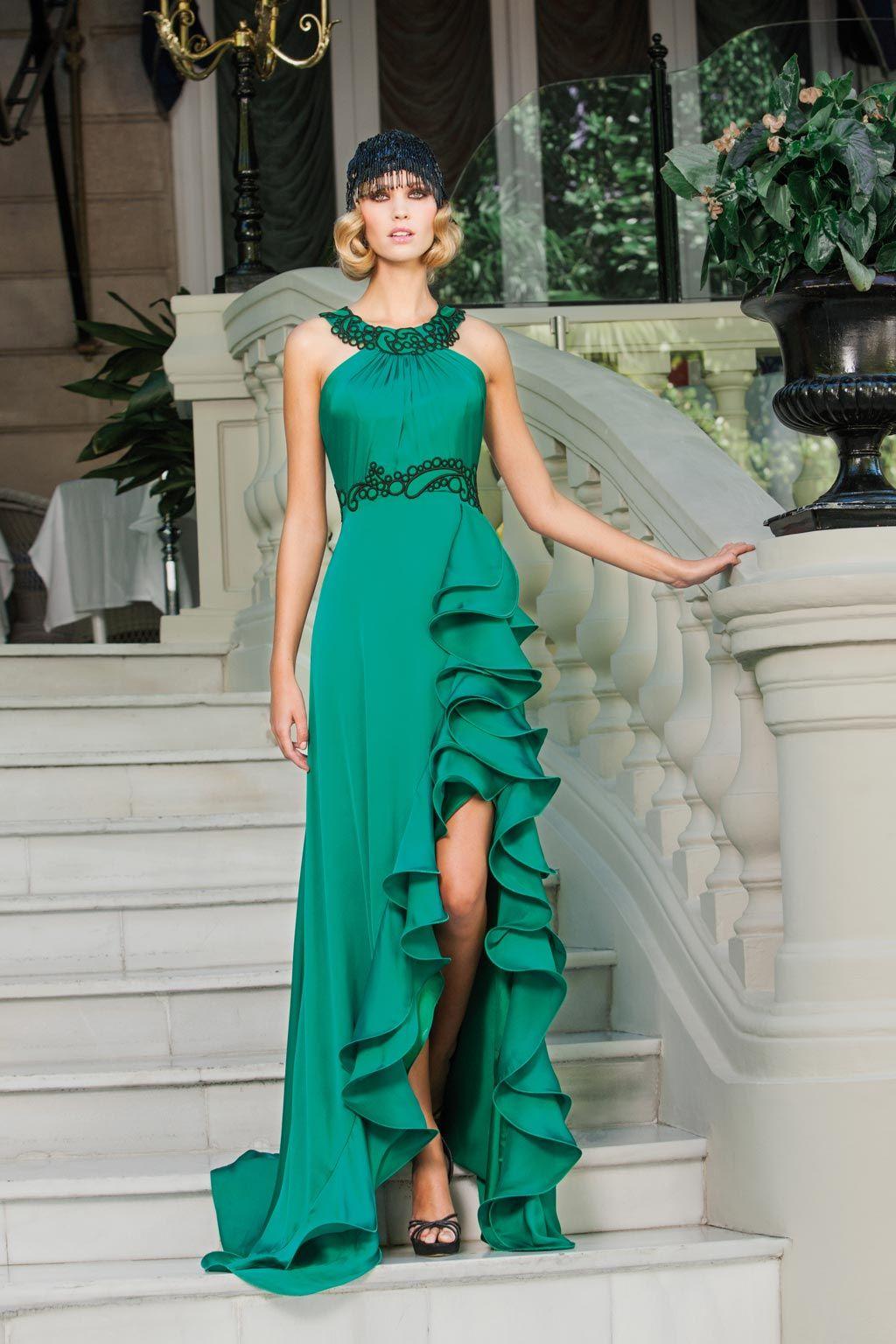 Vestido verde sonia pena