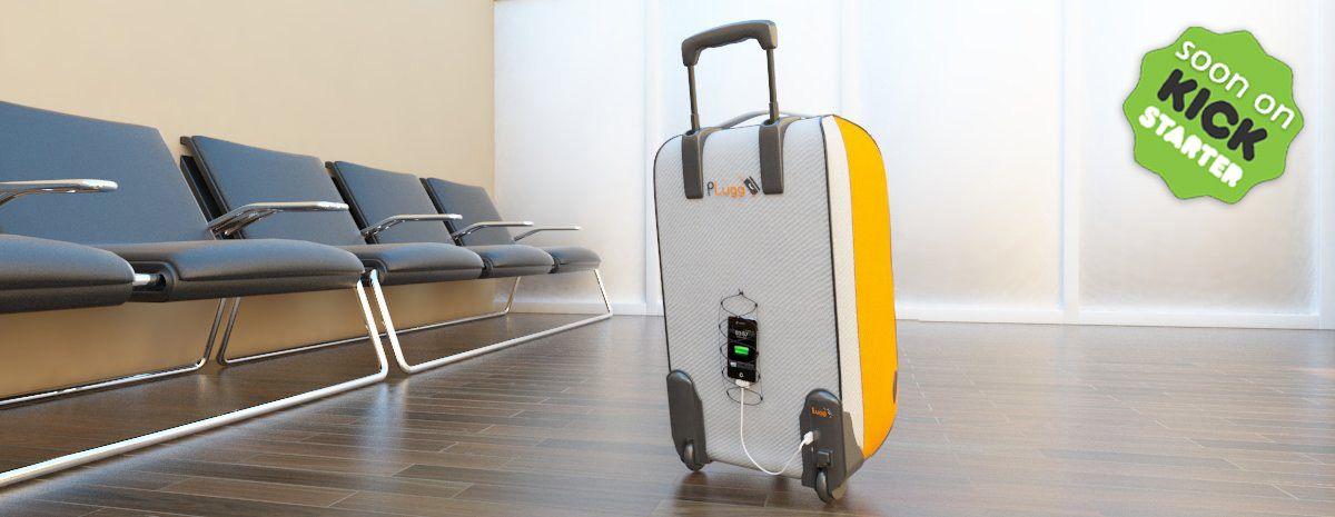 PLugg #Travel #Luggage that integrate a #battery #charger in the wheel. And uses the rolling motion of the wheel to charge your devices. Soon on #kickstarter  http://www.p-lugg.com http://www.facebook.com/pluggcharger http://twitter.com/PluggBattery