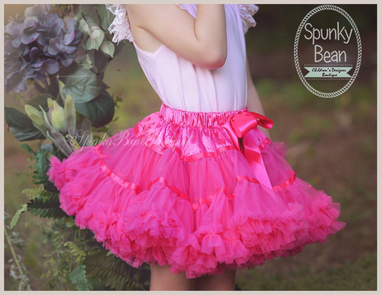 3ef3335cf Hot Pink tutu pettiskirt, Premium Tutu Petticoat, Pink Tutu, Fancy Posh Toddler  Skirt, Photography prop, pink hot pink Baby girl tutu, ...