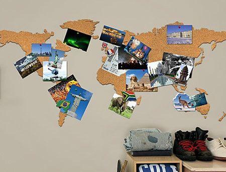 Corcho mapamundi hogar pinterest mapamundi corchos - Corcho decorativo paredes ...