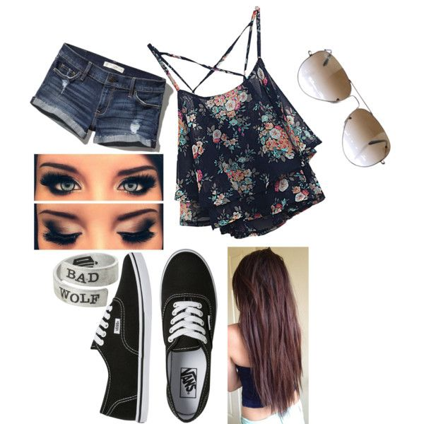 random outfit by ahc0300 on Polyvore featuring Abercrombie & Fitch, Vans and Ray-Ban