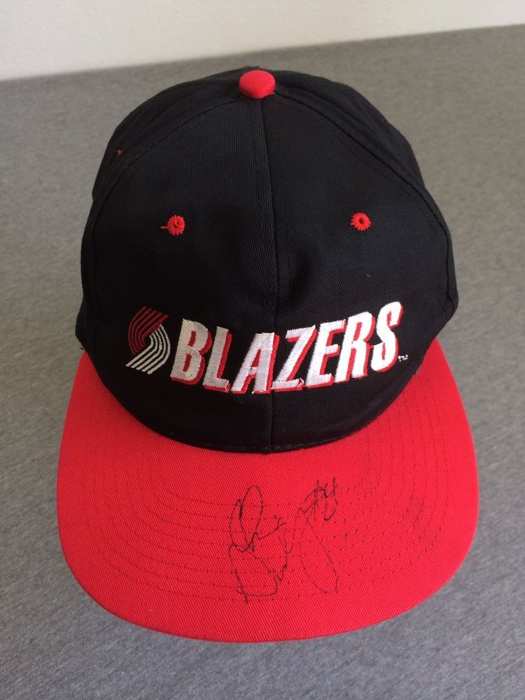 new products 9a374 f76e0 TRAIL BLAZERS Hat Portland RIP CITY Snap Back Cap Chris Dudley Autograph  UNWORN