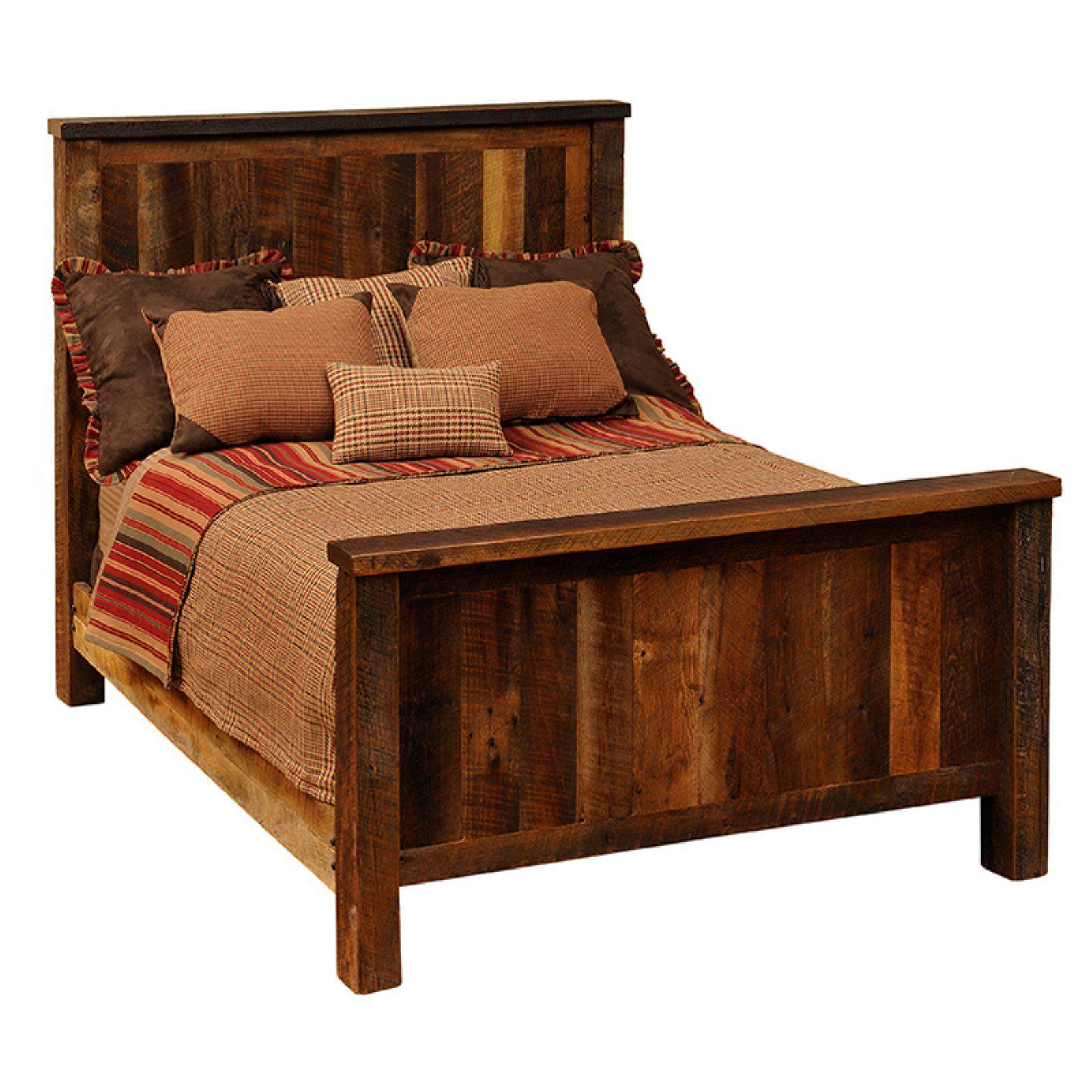fireside lodge barnwood traditional panel bed size