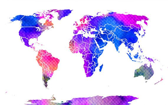 Hand painted world map clip art file download world map hand painted world map clip art file download world map watercolor multi gumiabroncs Images