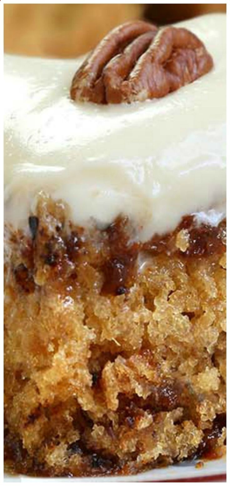 Pineapple Pecan Cake With Cream Cheese Frosting A Simple And Quick Recipe For Delicious