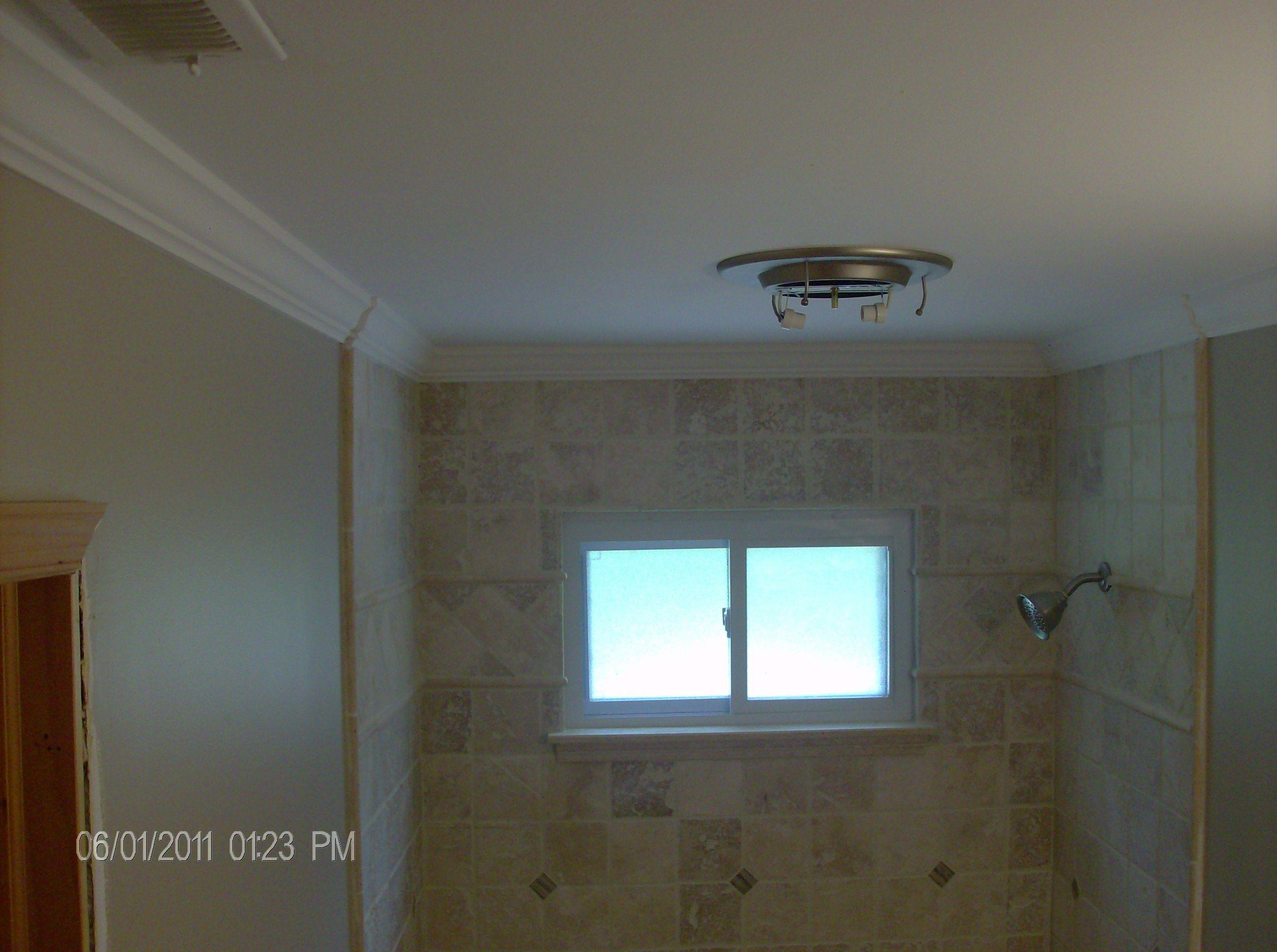 Return On Crown Around Tile  Bathroom  Pinterest  Bathroom Magnificent Bathroom Crown Molding Review