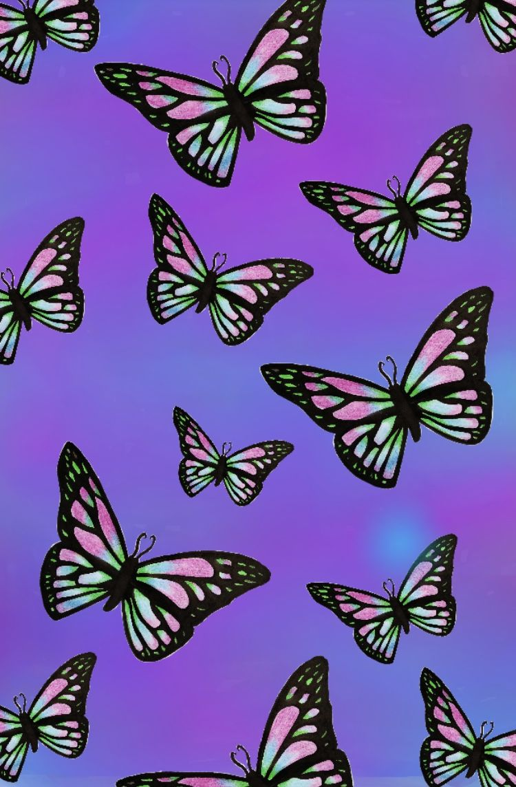 Pin By Baddie Bxby On Butterfly Wallpaper Iphone In 2020 Butterfly Wallpaper Iphone Butterfly Wallpaper Aesthetic Iphone Wallpaper