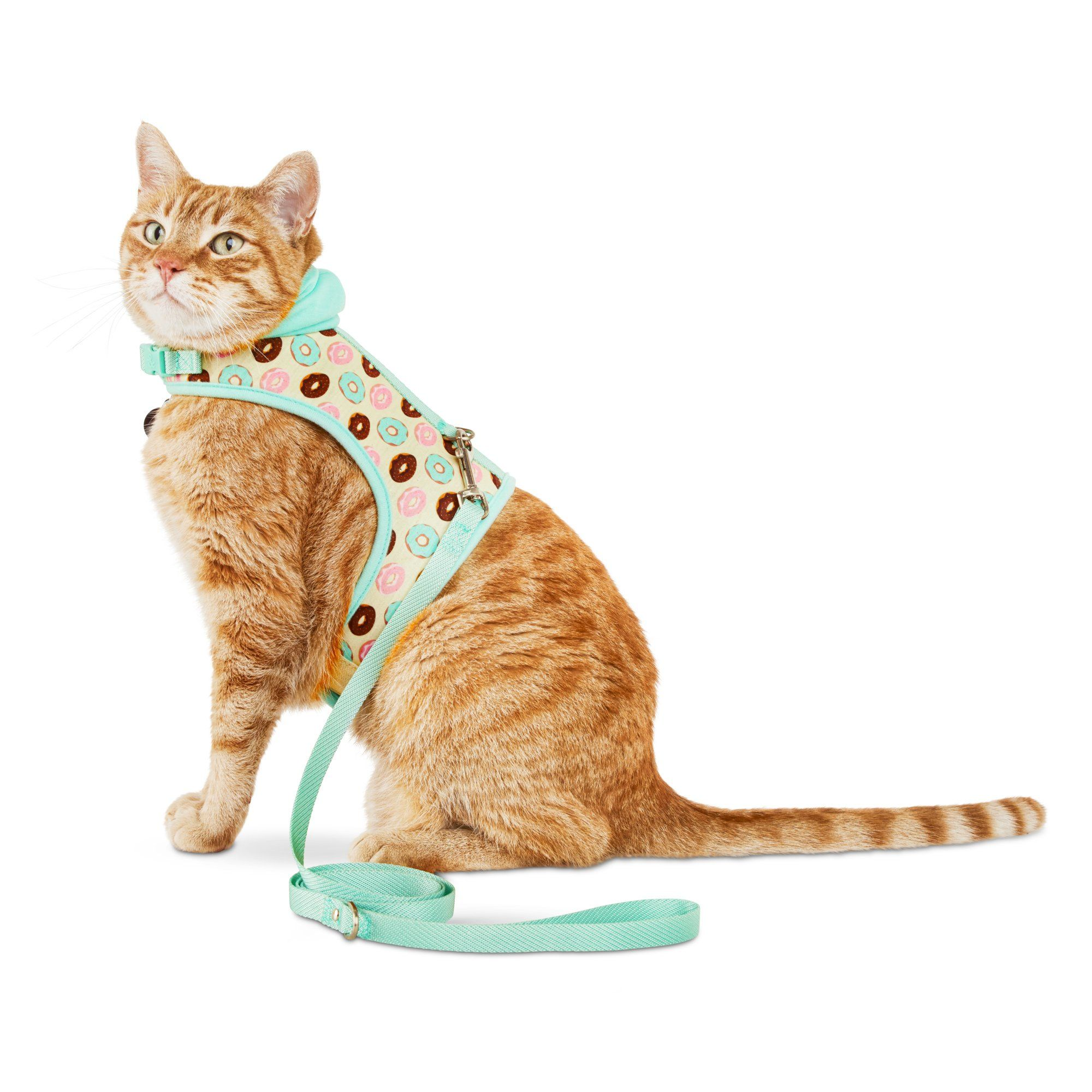 Bond Co Donut Print Hooded Cat Harness And Leash Set Petco Cat Harness Cat Leash Petco