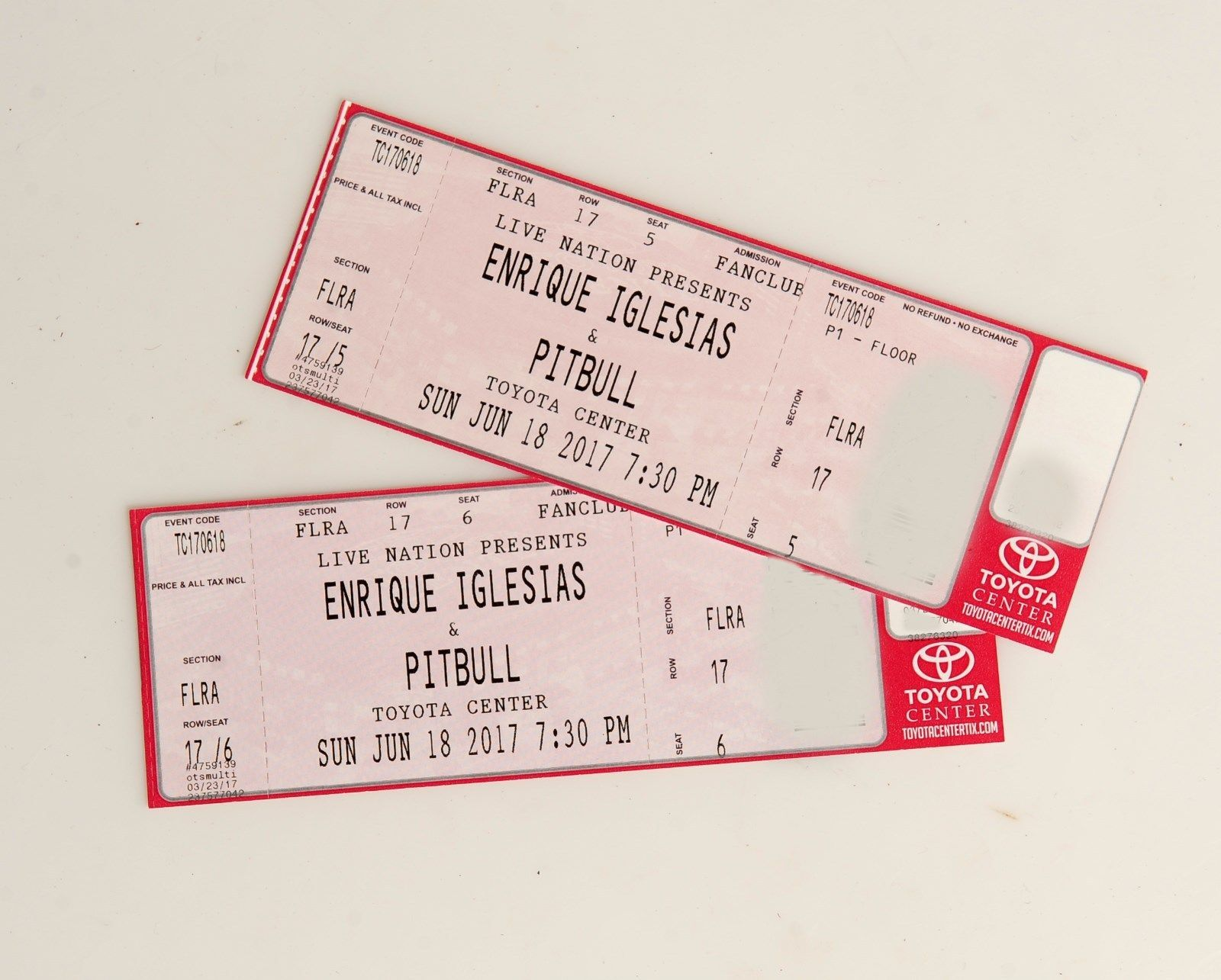 Tickets enrique iglesias pitbull houston toyota ctr for 17th floor concert schedule