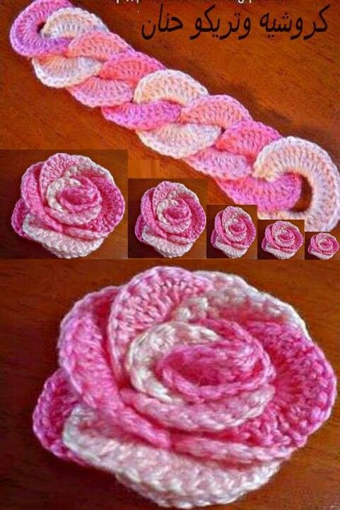 Rosa crochet this is how the roses are made!!!!! | Crochet- Flowers ...