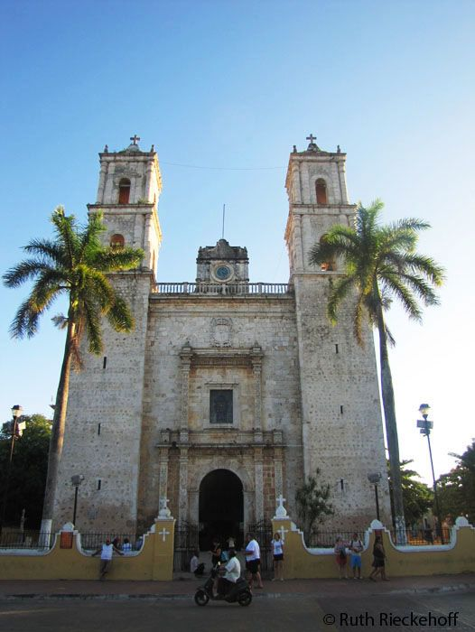 Catedral of San Gervasio at Sunset, Valladolid, Yucatan, Mexico