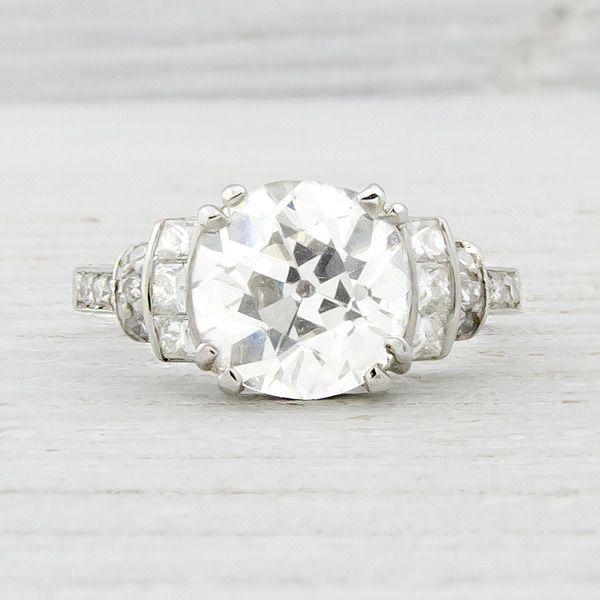 Image Of 1.52 Carat Vintage Diamond Engagement Ring