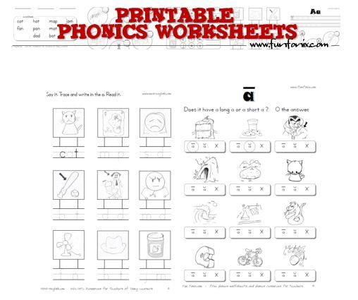 Printable Phonics Worksheets Free