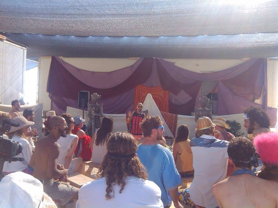 Speaking @ Burning Man about self & society.