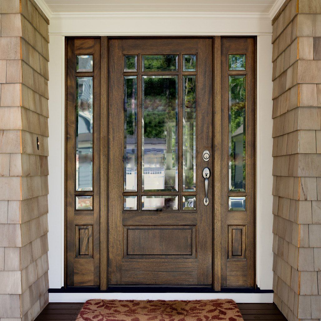 Andalucia 9 Lite Prairie Entry Door With Sidelites Craftsman Front Doors Garage Door Design Farmhouse Doors