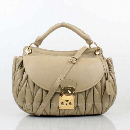 43e755e464a1 replica miumiu matelasse lambskin leather apricot bag with sholder strap