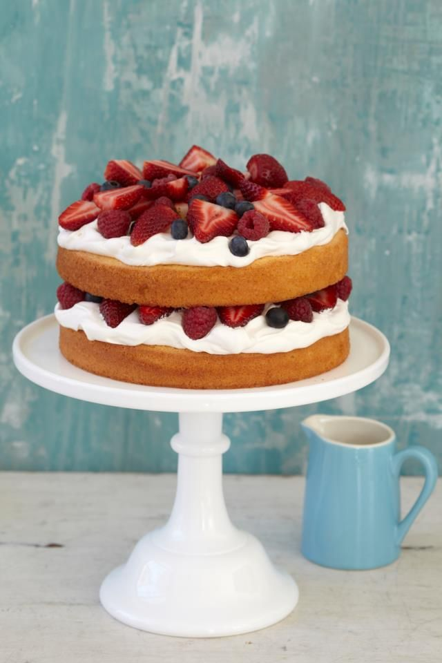Just a cake with cream and strawberrie´s, Photograph by `Buitenleven´, (Dutch magazine')