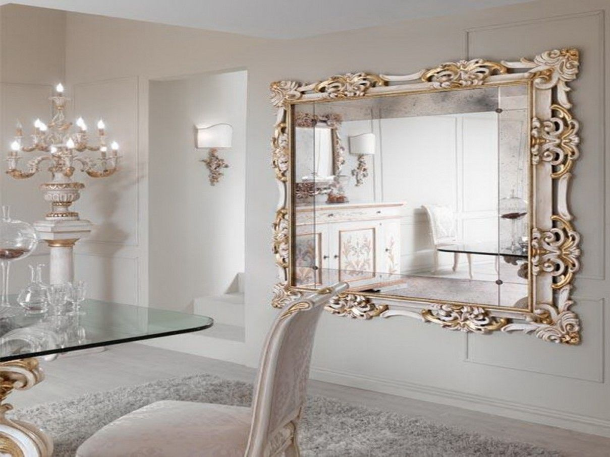 Large Mirrors For Wall Glass Framed Mirror Interior Decorative